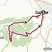 Map / Ludlow and High Vinnals - a Town and Country walk