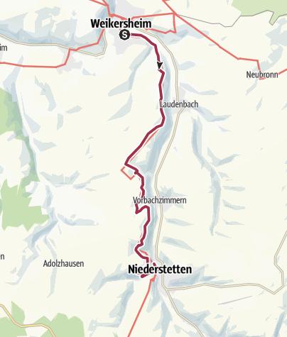 Karte / Zu den Wild-Tulpen im Vorbachtal