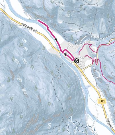 Map / Winterwanderung Saalachweg