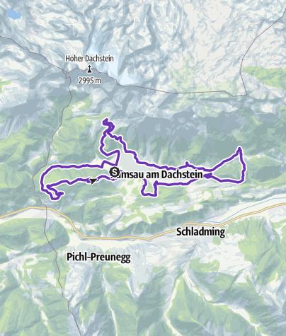 Map / Ersatzstrecke Torlauf-Dachstein
