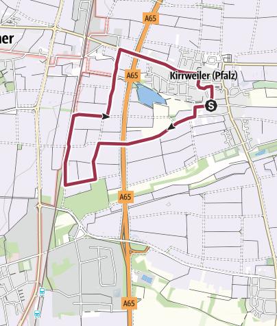 Karte / Kirrweiler - Blücher-Rundweg