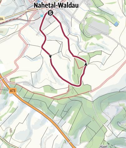 Karte / Rundwanderweg - Von Hinternah zur Maiburg - Thüringer Wald