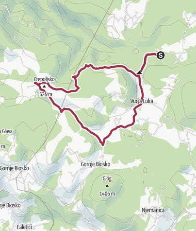 Map / Vukov Konak - Crepoljsko roundtrip