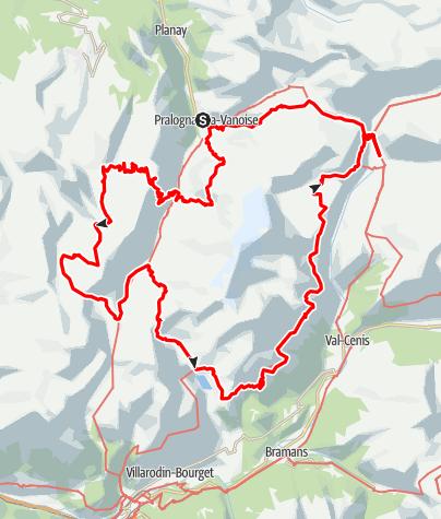 Kaart / Parc National de la Vanoise 50-plus