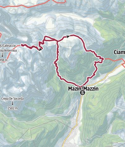 Map / Lago e Rifugio Antermoia