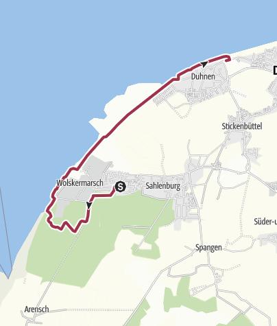 Karte / 18.09. Cuxhaven-Sahlenburg-Wernerwald-Leuchtturm 18 km