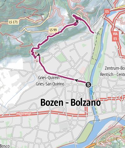 Cartina / Passeggiata del Guncina