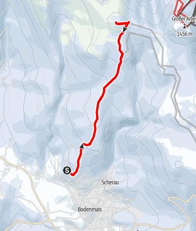 Karte / Kleiner Arber von Bodenmais