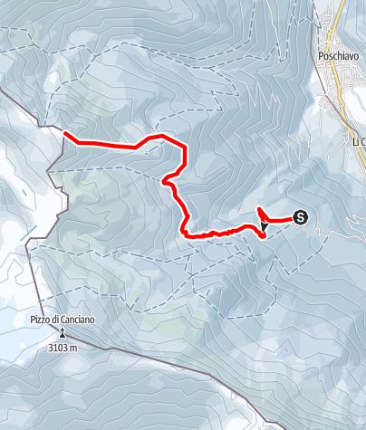 Karte / Corno Campascio