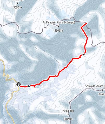Karte / Piz Cunfin