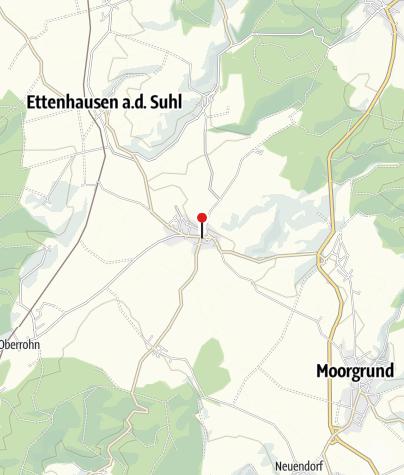 Karte / Spinnstube - Übernachten im Lutherstammort Möhra