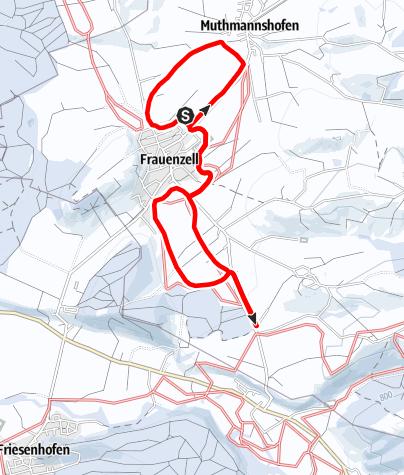 Karte / Loipe Altusried OT Muthmannshofen und OT Frauenzell