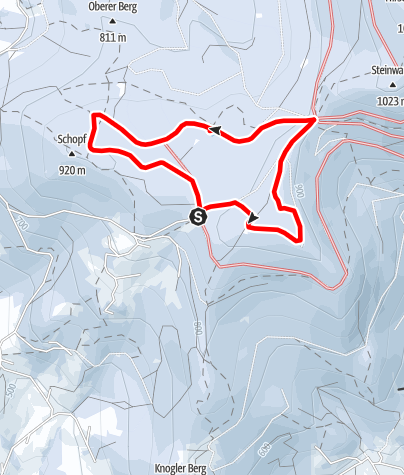 Karte / Schopf-Skatingloipe Grandsberg