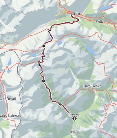 Karte / Sentiero Cristallina