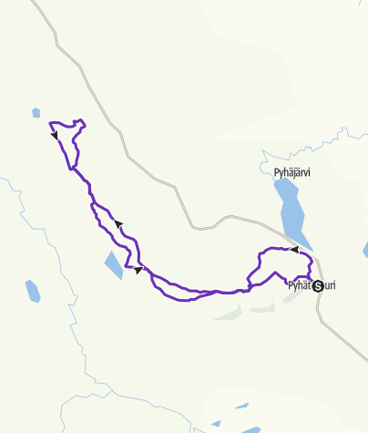 Map / NUTS Pyhä Tunturimaraton 43 km