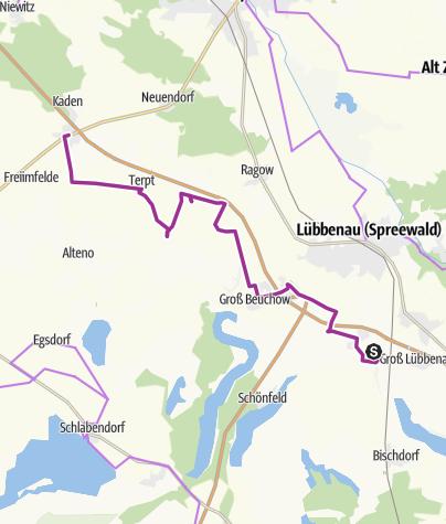 Map / Fahrradtour von Lübbenau nach Duben