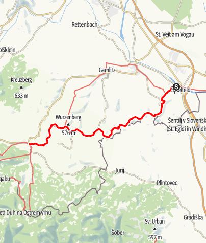 Map / 03A Südalpenweg, E03: Spielfeld - Leutschach