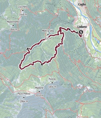 Cartina / Lodano-Castèll-Mött di Còll-Ör Gröss-C'öll-Mognèe d Zótt-Lodano