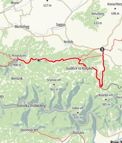 Map / 03B Südalpenweg, E04: Leutschach - Pongratzen