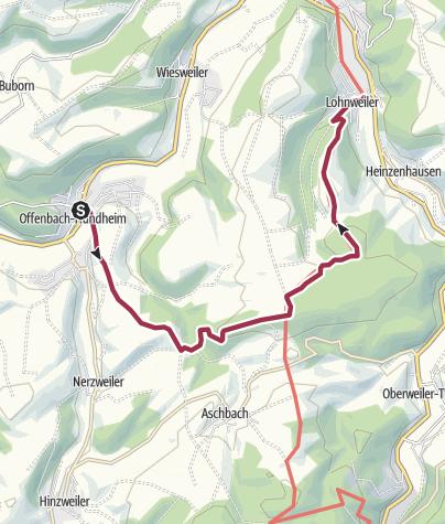 """Karte / Offenbach-Hundheim - Lohnweiler -  """"Benediktiner und edle Obstbrände"""""""