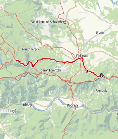 Map / 03A Südalpenweg, E05: Pongratzen - Soboth
