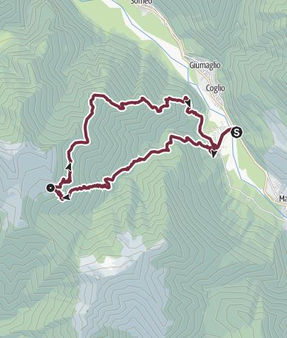 Cartina / Lodano-Alpe Canaa-Lodano