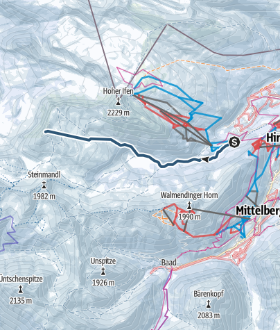 Karte / Vom Ifenparkplatz auf den Hählekopf (2058 m)