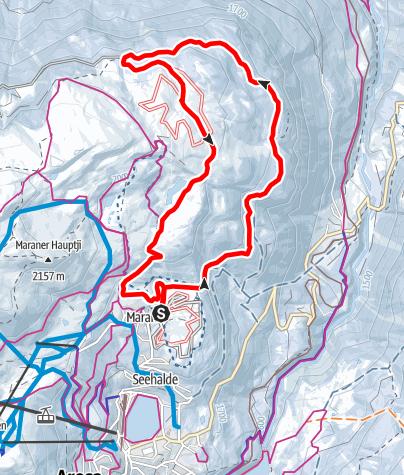 Map / Langlaufloipe Prätschalp 8km