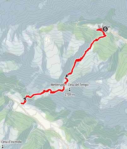 Karte / Romedius-Weg von St. Anton nach Maiern