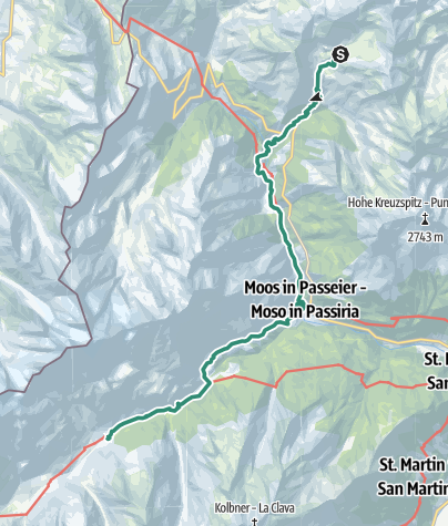 Karte / Romedius-Weg von St. Martin nach Pfelders