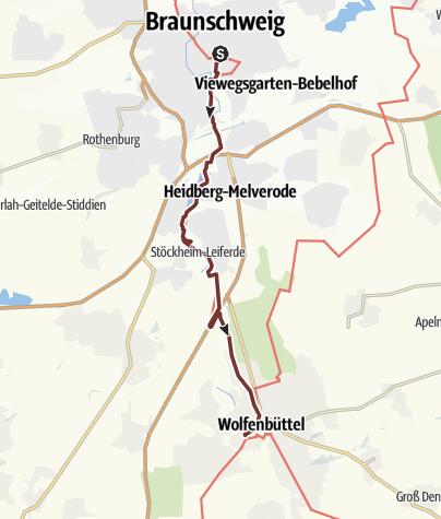 Map / VIA ROMEA Braunschweig - Wolfenbüttel (14)
