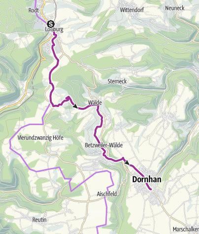 Karte / Radsaisoneröffnung 2017 Loßburger Familienradtour
