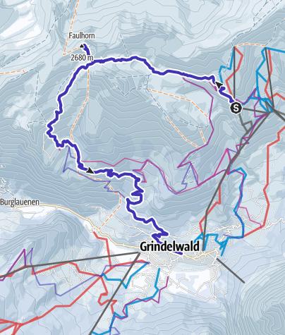 Map / Schleifenroute CH / Jungfrau-Region / Schlittelroute (Rodeln)