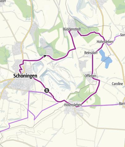 Karte / paläon-Route
