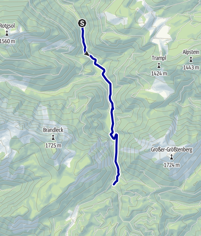 Karte / Biwakplatz Steyrsteg ab Bodinggraben, Wanderweg