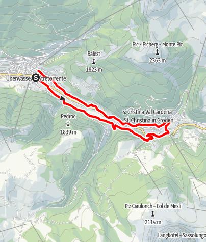 Cartina / Sentiero circolare Ortisei – S. Cristina