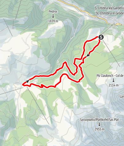 Karte / Monte Pana – Saltria