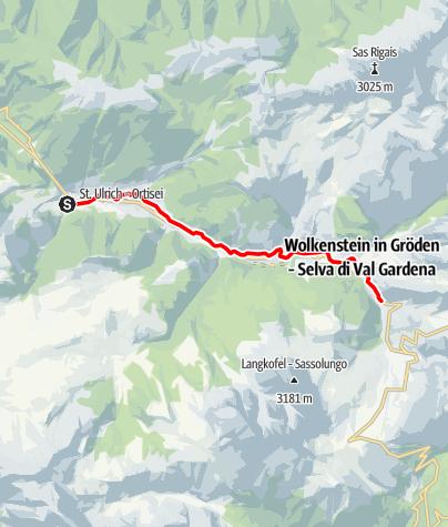 Cartina / Sentiero del trenino