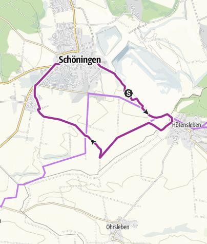 Karte / Schöningen-Route