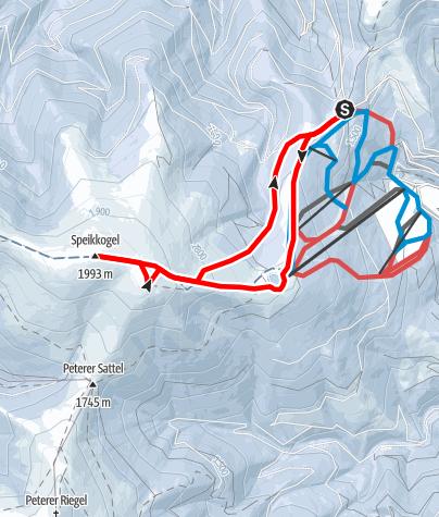 Karte / Durch den Schnee auf den Stubalm-Speikkogel