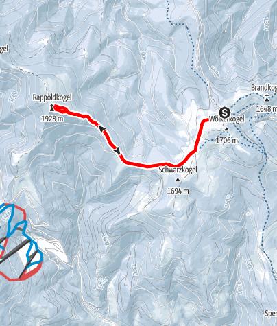 Karte / Auf den Rappold auf der Stubalm