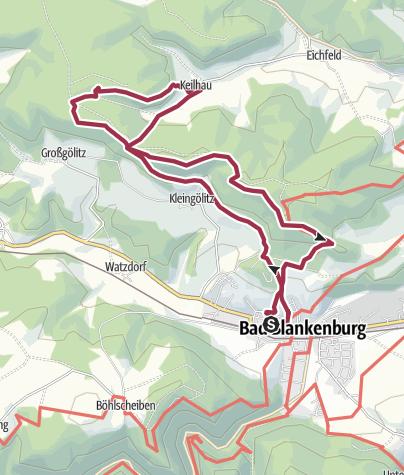 Karte / Wanderung - Friedrich Fröbel Wanderweg - Bad Blankenburg
