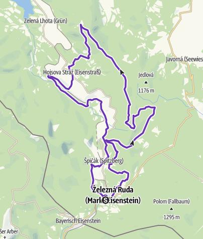 Mapa / Rock Point - Horská výzva 2018: Šumava - HALF
