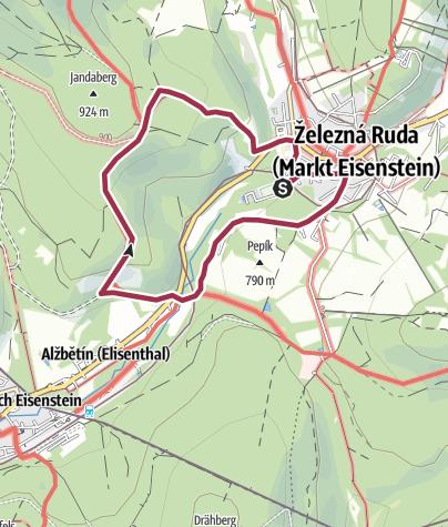 Mapa / Pochod s Mixitkou 2018: Šumava