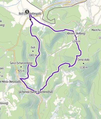 Mapa / Rock Point - Horská výzva 2018: Krušné hory - SHORT