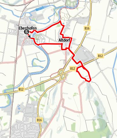 Karte / Sagenhafter Wanderweg bei Biessenhofen