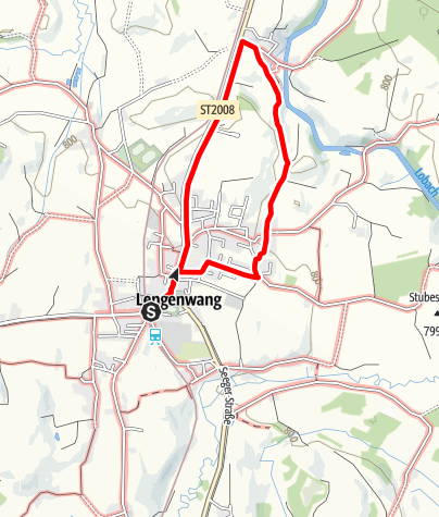 Karte / Lengenwanger Kleeblattwege - Mühlenrunde