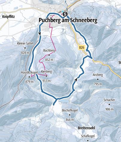 Map / Schneeschuhwandern nach Rohrbach im Graben