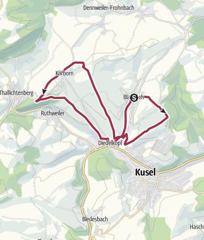 Karte / Blaubach - Aussichtsreich zur Burg Lichtenberg