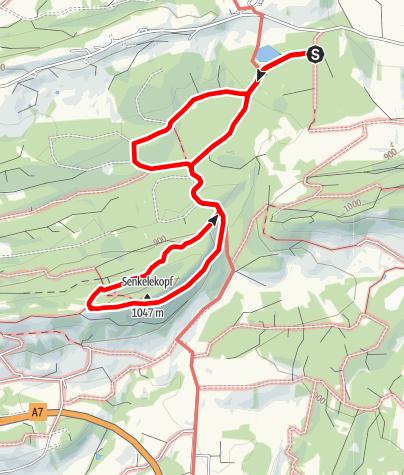 Karte / Naturpfad Senkele